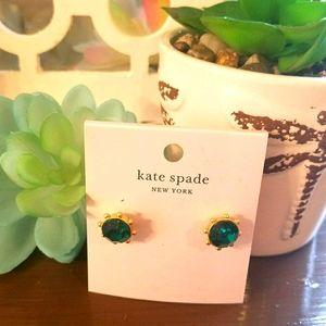 NWT  KATE SPADE STUDS Emerald colored